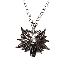 Men's Fashion Witcher3 Zinc Alloy Wolf Head Pendant Men's Necklace