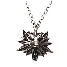 Men's Fashion Witcher3 Zinc Alloy Wolf Head Pendant Men's Necklace