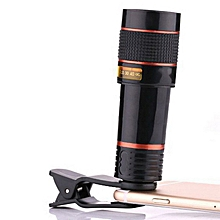 HD12X Optical Zoom Camera Telescope Lens With Clip For Universal Mobile Phone
