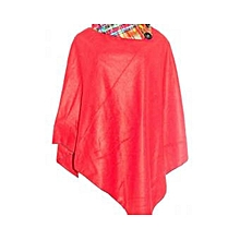 Women Ponchos-Red