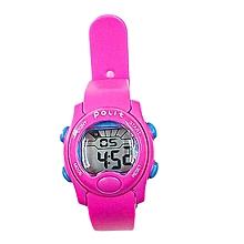 Dark Pink Kids Watch