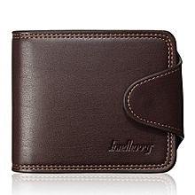 Men Wallet Leather Credit Card Holder Coin Bag Purse Bifold Money Clip Pockets Coffee - -