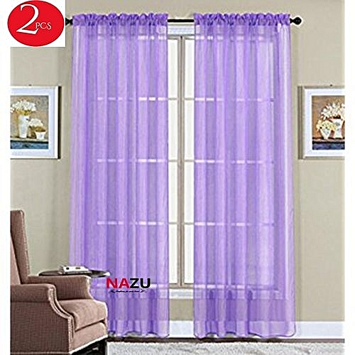 Buy Generic Curtains-Sheer See Through-Pack Of 2 Each