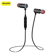 Awei AK8 Waterproof Magic Magnet Attraction Bluetooth 4.1 Sports Headphones with Microphone On-ear Control BDZ