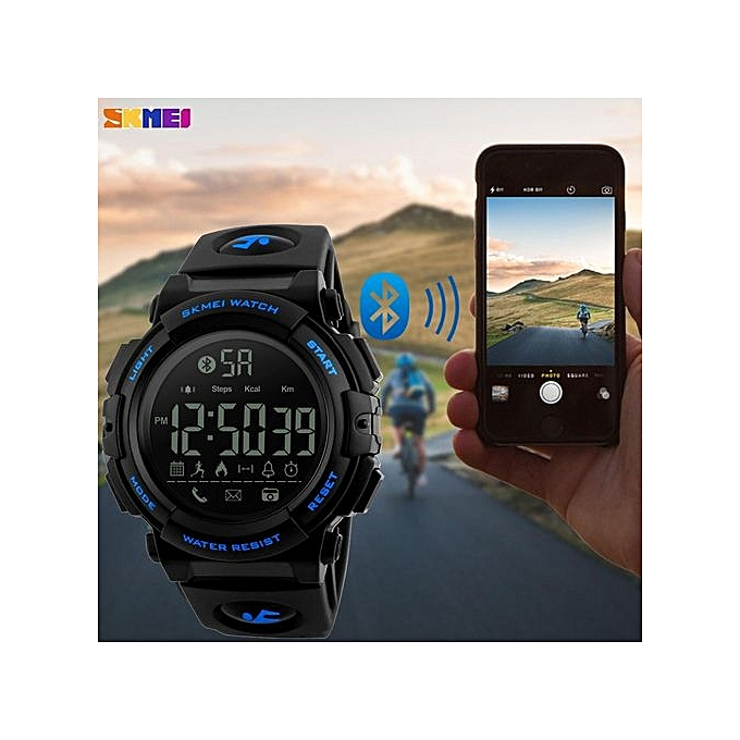 4c7465cbf83 ... SKMEI Men Sports Smart Watches 50M Waterproof Pedometer Calories  Bluetooth Remote Camera Watches Relogio Masculino 1303 ...
