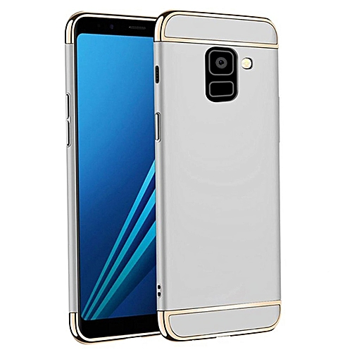 best website 08a50 b3f3e Galaxy A8 Plus 2018 Case, Shockproof Thin Hard Case Cover for Galaxy A8  Plus (Silver)