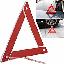 Car Sets Emergency Hazard Breakdown Warning Board Red Reflective Triangle Sign