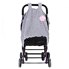 Baby Stroller Seat Cover Breathable Sun Shade Dustproof Blanket Gray&Pink