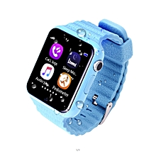 GPS Bluetooth Smart Watch For Kids Boy Girl Apple Android Phone Support SIM TF Dial Call And Push Message Blue