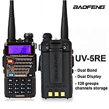 BAOFENG - UV-5RE Walkie Talkie UV 5RE 5W 128CH UHF VHF FM VOX Dual Display Comunicador Dual Band Two Way Radio 5-8 KM (1 Unit)