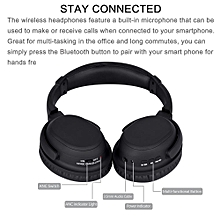 Active Noise Cancelling Wireless Bluetooth Headphone Mic-Headset Stereo Earphone