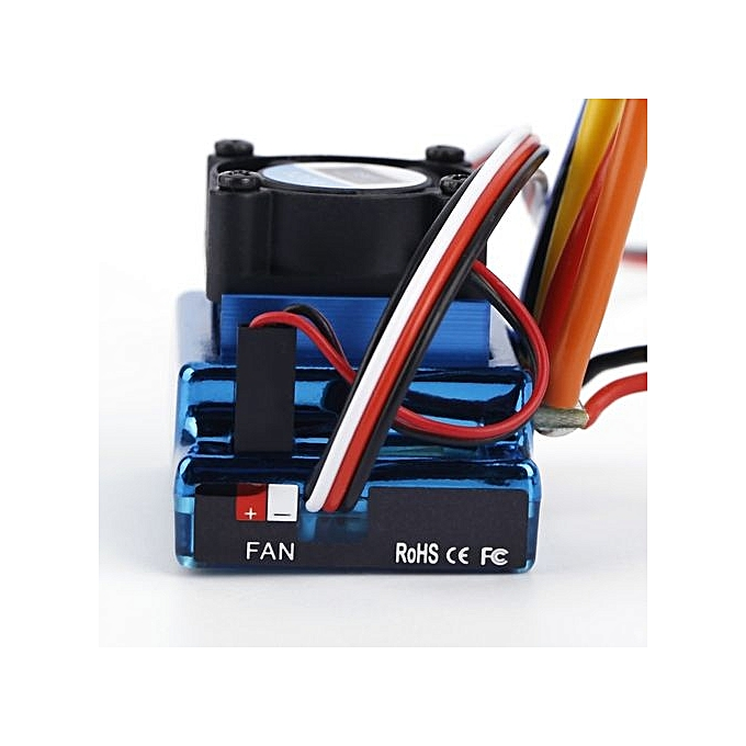 120A ESC Sensored Brushless Speed Controller For 1/8 1/10 .