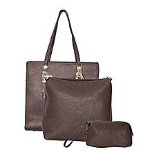 3 In 1 Dark Brown Handbag
