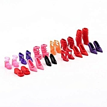 Different Styles 12 Pairs Cute Colorful Assorted For Barbie Doll Shoes