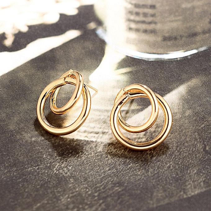 f2882c62f49f9 Women Big Hoop Joint Hiphop Circle Pierced Earrings