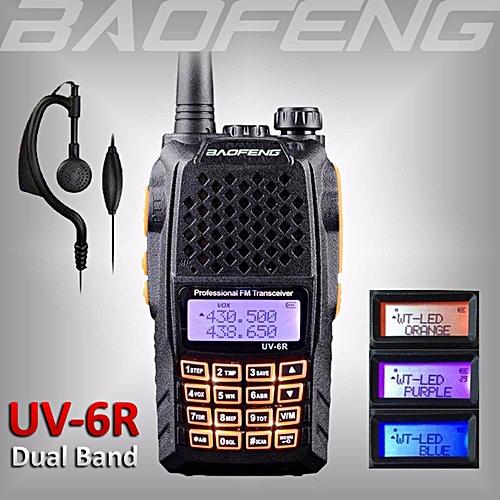 2018 BAOFENG UV-6R Dual Band UHF/VHF Ham Radio 136-174/400-520Mhz Walkie  Talkie