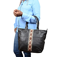 Africana Leather tote handbag