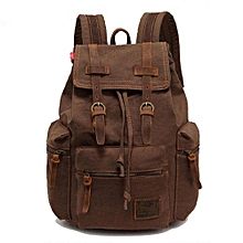 AUGUR New Fashion Men's Backpack Vintage Canvas Backpack School Bag Men's Travel Bags Large Capacity Travel Backpack Camping Bag(Coffee)