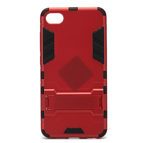 watch c6e51 50e7d For MEIZU U10 two-in-one armor mobile phone case holder protective cover  Wine red