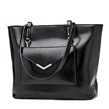 Ladies Handbag Oil Wax Soft leather Shoulder Tote Bag