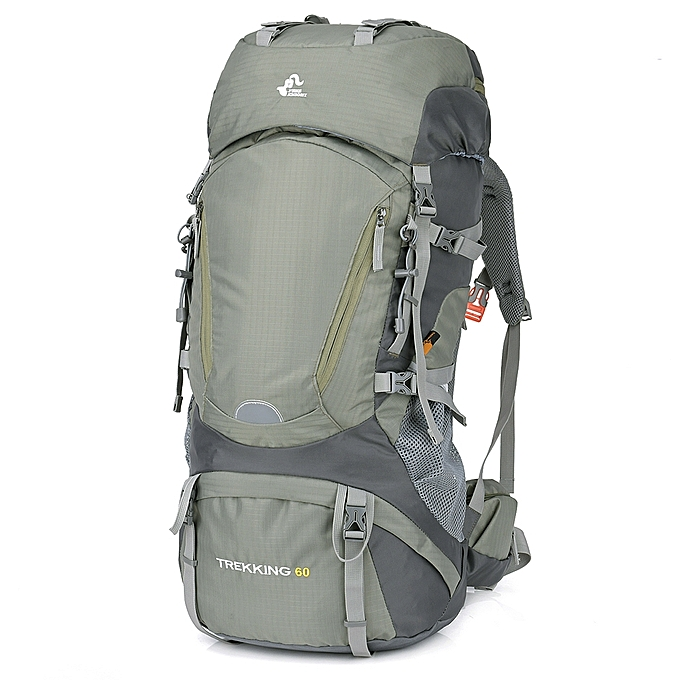 60L Waterproof Internal Frame Hiking Backpack with Rain Cover Outdoor  Camping Trekking Climbing Mountaineering Backpack Sport fb15b89a46