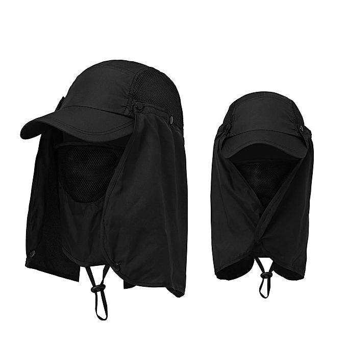 7697cc6c Men Women Summer Protection Sun Hat Removable Neck Face Mask Head Sun Visor  Cap Outdoor Quick