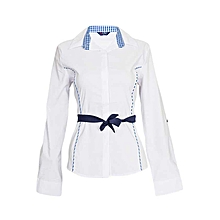 Checked White And Blue Shirt