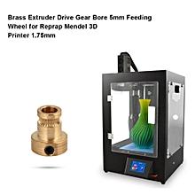 Drive Gear for 3D Printer 2Pcs Brass Extruder Drive Gear Bore 5mm Feeding Wheel for Reprap Mendel 3D Printer 1.75mm