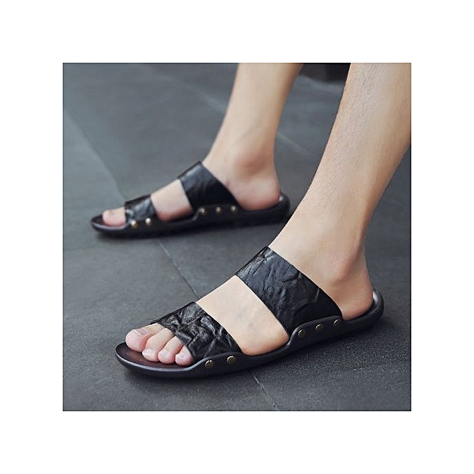 ddfb3d4bd8f6 Generic 2018 Men s Sandals Beach Shoes Casual Soft Waterproof Non ...