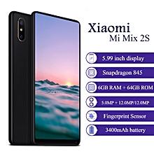 """Mi Mix 2S 4G 5.99"""" 6GB RAM + 64GB ROM MIUI 9 3400mAh battery Qualcomm Snapdragon 845 Octa Core - BLACK"""