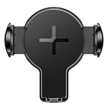ROCK 360 Degree Rotation Qi Wireless Car Charger Phone Holder With LED Indicator For iPhone X S8