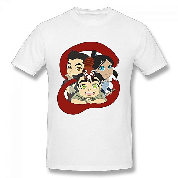 Avatar The Last Airbender ATLA Trio Men's Cotton Short Sleeve Print T-shirt  White