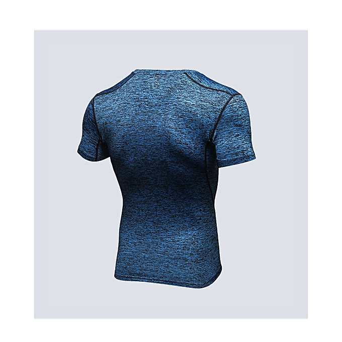 Generic Men s Quick Dry Short Sleeve T-Shirt Running Fitness Shirts Workout  Athletic Compression Shirts fa05641de1f8