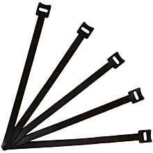 AmazonBasics Reusable Cable Ties - 8-Inch (20cm), 50-Pack