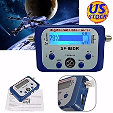 Mini LCD Digital Satellite Finder Meter Signal Strength Dish Sat Directv Compass