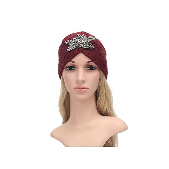 198dedfaaa3 Fashion Womens Winter Warm Knit Crochet Ski Hat Braided Turban Headdress  Cap RD