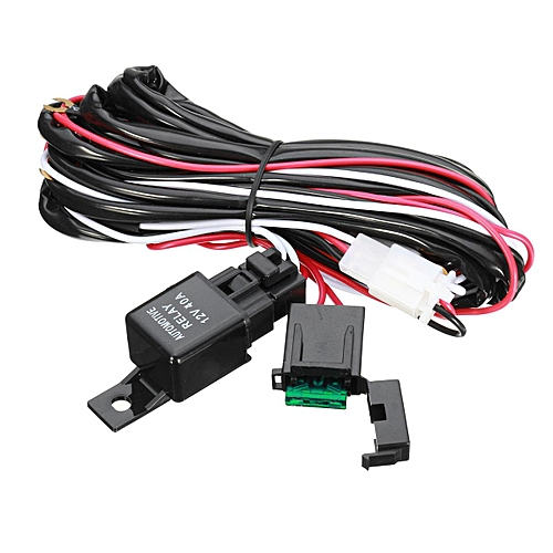 40 Amp Off Road ATV/Jeep LED Light Bar Wiring Harness Relay & ON/OFF Jeep Ke Light Switch Wiring Harness on