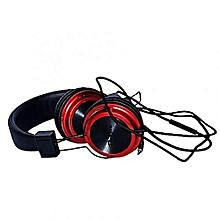Superbass Boom Headphones - Black & Red