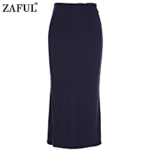 Sexy Pencil Ankle-Length Long Beach Party Slim Flare Skirts - Navy Blue