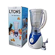 2 in 1 Blender with Grinding Machine 1.5L - White & Blue.