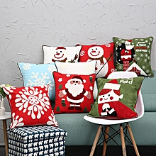 New Christmas Pure Cotton Embroidering Pillow Cases Santa Snowflake Cushion Cover
