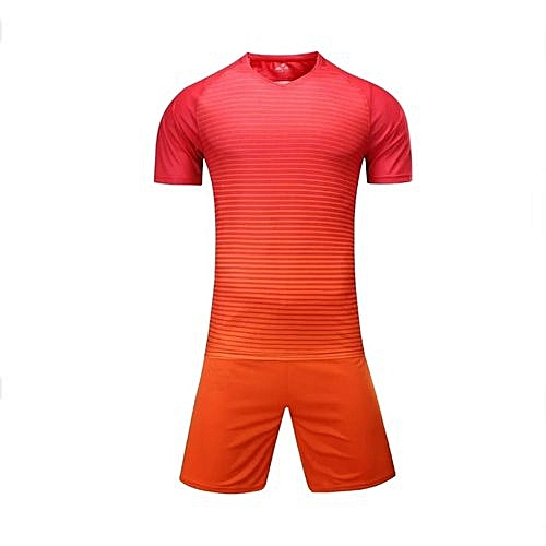 551ebee43 Longo Customized Blank 2018 New Fashion Kids And Men s Football Soccer Team  Sports Jersey Set-Orange