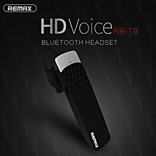 Remax RB-T9 - Stylish Bluetooth 4.1 Wireless Business Headset Headphone with Noise Cancelling Mic / HD Voice - Compatible with IPhone, Android, and Most Smartphones