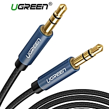 UGREEN 1 Meter 3.5mm Nylon Bradied Audio Cable Compatible for iPhone, iPad or Smartphones, Tablets, Media Players By HonTai