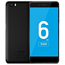 Vernee  Mars Pro 4G Phablet Android 7.0 5.5 Inch Helio P25 Octa Core 2.5GHz 6GB RAM 64GB ROM Fingerprint Sensor 13.0MP Rear Camera Full Metal Body-BLACK