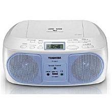 TY-CRU12 -CD/MP3/FM Radio - Remote - USB - Blue& White
