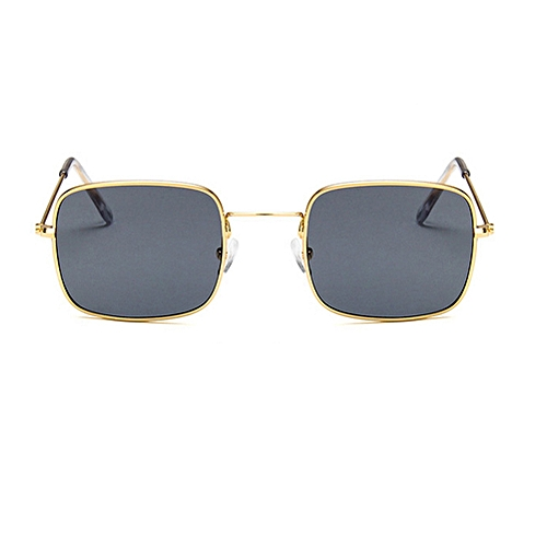 Buy Generic Retro Small Square Sunglasses - Gold Frame Gray @ Best ...