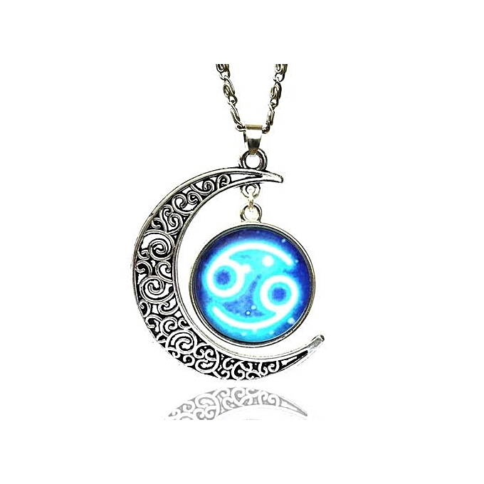 Buy fashion 12 zodiac glass necklace pendants moon sign pendant 12 zodiac glass necklace pendants moon sign pendant symbol alloy best gift retro aloadofball Gallery