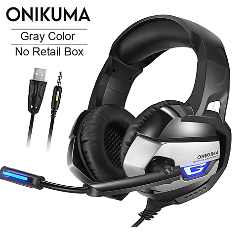 8d1bcf8db25 Generic K5 Stereo Gaming Headset casque 3.5mm Deep Bass Headphones with Mic  for PS4 Gamepad New Xbox One PC Laptop Computer(Gray No Retail Box)