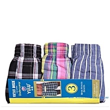 Pack of 3 High quality Multicoloured Checked men Boxers -(colours may vary)